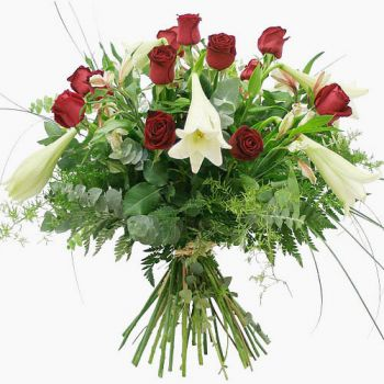 fleuriste fleurs de Stockholm- Passion Bouquet/Arrangement floral