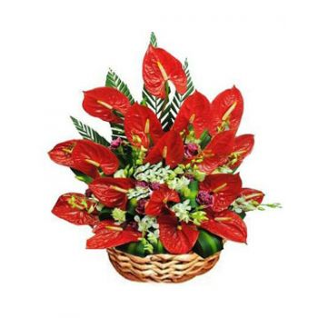 St. Lucia flowers  -  Happiness Flower Bouquet/Arrangement