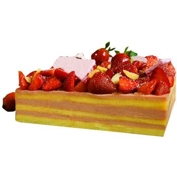 Batam flowers  -  Strawberry Soft Cake Flower Delivery