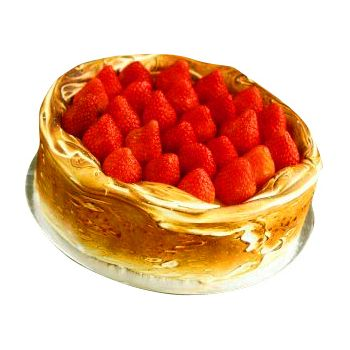 Batam flowers  -  Strawberry Cheese Cake Flower Delivery