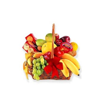 Trinidad flowers  -  Fruit and Cracker Delight Flower Bouquet/Arrangement