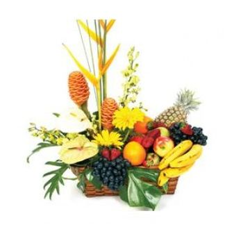 Trinidad online Florist - Fruit and Flowers Bouquet