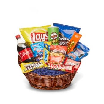 Trinidad flowers  -  Junk Food Galore Basket Flower Bouquet/Arrangement