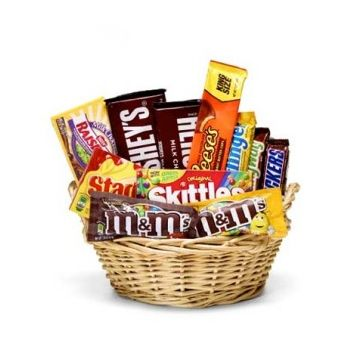 Trinidad online Florist - Chocolate Candy Basket Bouquet