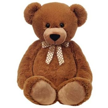 Portugal flowers  -  Brown Teddy Bear  Delivery