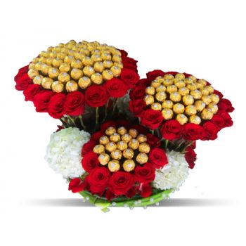 India flowers  -  Luxury Triple Delight Flower Bouquet/Arrangement
