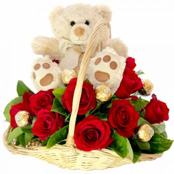 Aruba online Florist - Passion Basket Bouquet