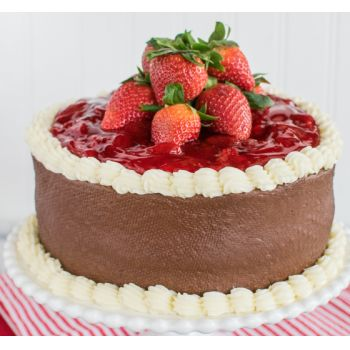 Wuhan online Florist - Strawberry Mousse Cake Bouquet