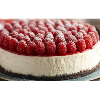Kina blomster- Raspberry Cheesecake Blomst buket/Arrangement