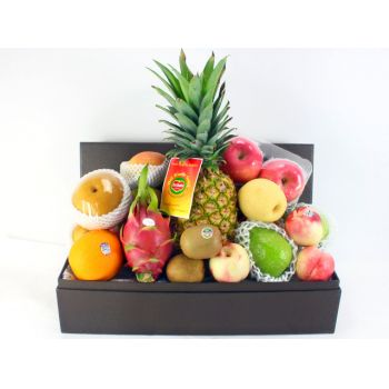 Beijing flowers  -  Elegant Fruit Hamper Flower Bouquet/Arrangement