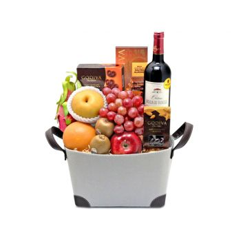 Hong Kong online Florist - Connoisseur Hamper Bouquet