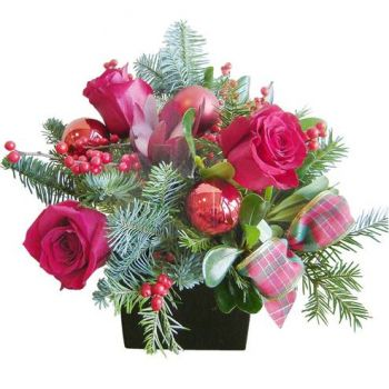 fleuriste fleurs de Cala Carbo- Rose festive Bouquet/Arrangement floral