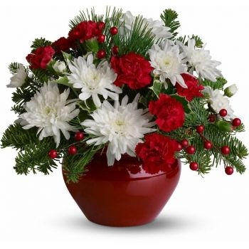 Malaga flowers  -  Scarlet Beauty Flower Bouquet/Arrangement