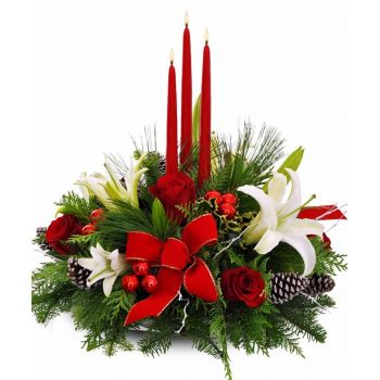 Santa Ines flowers  -  Festive Glory Flower Delivery