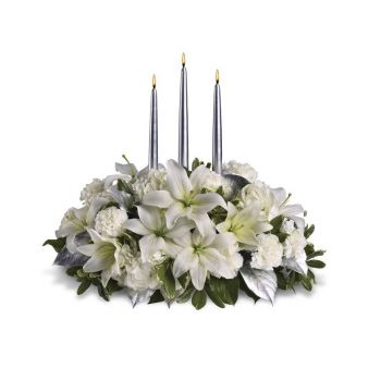 Ibiza flowers  -  White Inspiration Flower Bouquet/Arrangement
