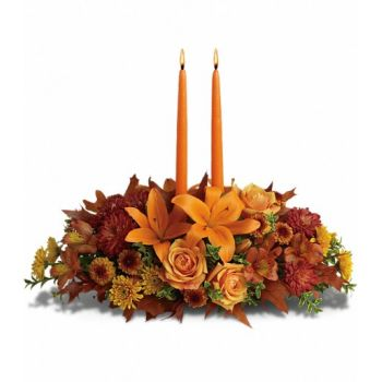 San Sebastian flowers  -  Autumn Glow Flower Bouquet/Arrangement