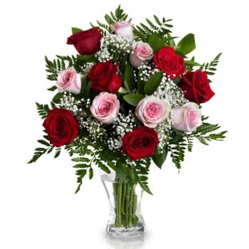 Madīnat Ḩamad flowers  -  Pink and Red Desire Flower Delivery