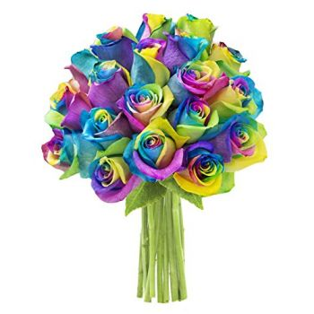 Moscow flowers  -  Rainbow Beauty Flower Bouquet/Arrangement