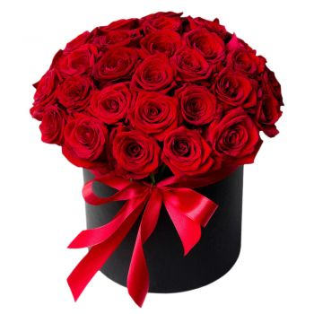 Casablanca online Florist - Love Box Bouquet