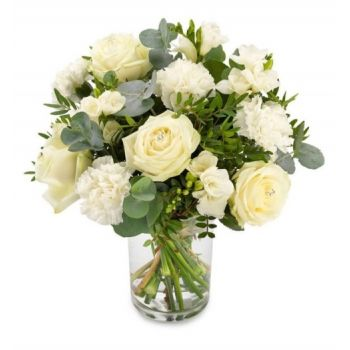 Badajoz online Florist - Snow white beauty Bouquet