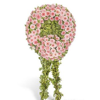 Ankara flowers  -  Pink Wreath Flower Delivery