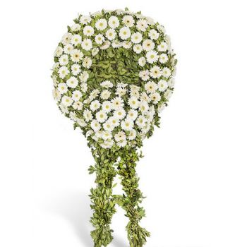 Ayas online Florist - White Wreath Bouquet