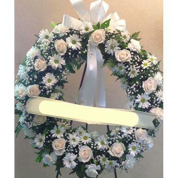 Curacao flowers  -  Forever Peace Wreath Flower Bouquet/Arrangement