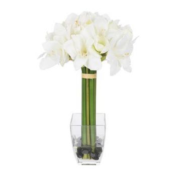 Paris online Florist - White Luck Bouquet