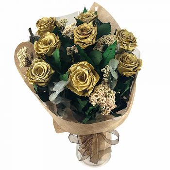 Quarteira blomster- Konserveret Eternal Rose Bouquet Blomst Levering