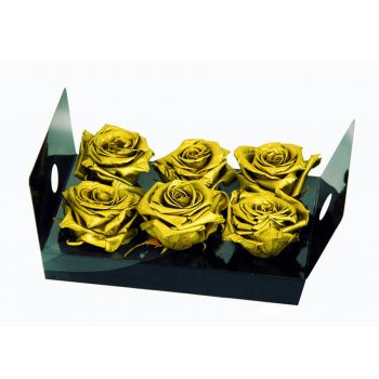 Cordoba flowers  -  6 Eternal Rosebuds Flower Bouquet/Arrangement