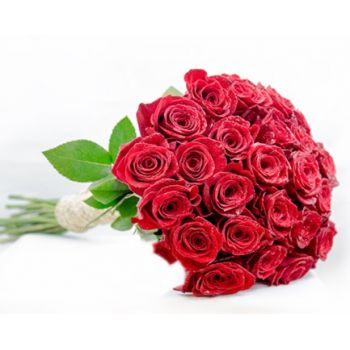 Doha online Florist - Red Rose Story Bouquet