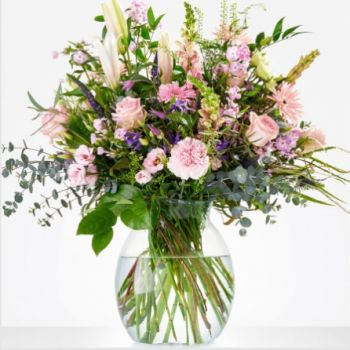 Dalfsen blomster- Bouquet-for-the-sødeste Blomst Levering