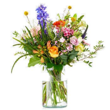 Berg en Dal blomster- Buket af Flower Wealth Levering