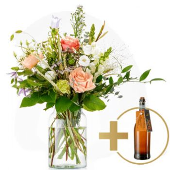 Rotterdam online Florist - Bubbly and prosecco Bouquet