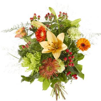 Vaassen flowers  -  Mixed orange flowers Delivery