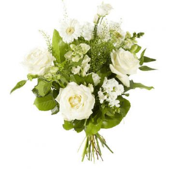 Amsterdam online Florist - Mixed white flowers Bouquet