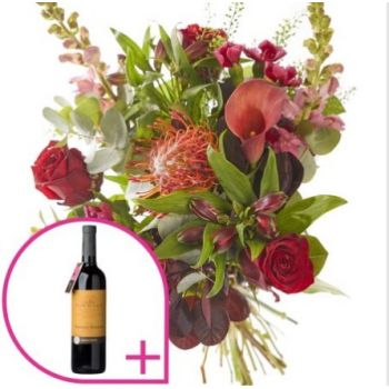The Hague flowers  -  Festive with red wine Flower Bouquet/Arrangement