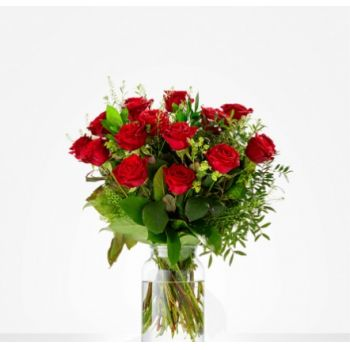 Copenhague Fleuriste en ligne - Rose rouge douce Bouquet