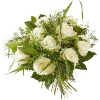 Abbega flowers  -  Sweet white rose Flower Delivery